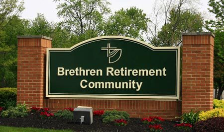 Brethren Retirement Community sign in Greenville