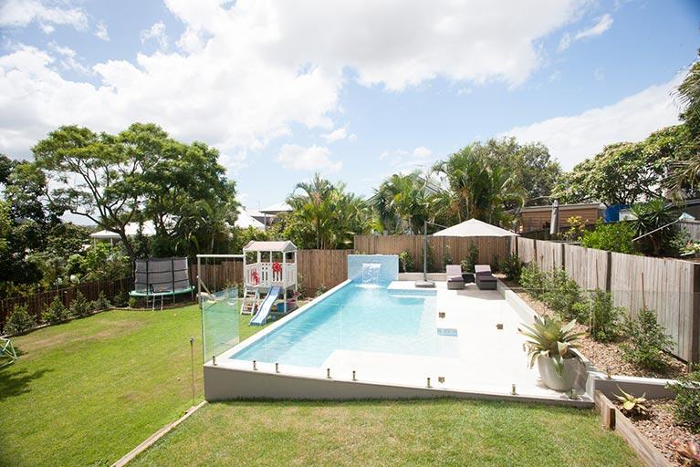 pool renovation backyard grange