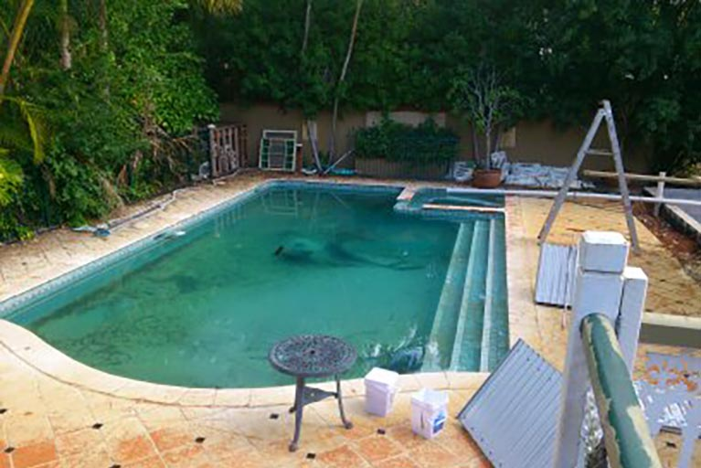 pool renovation in progress ascot