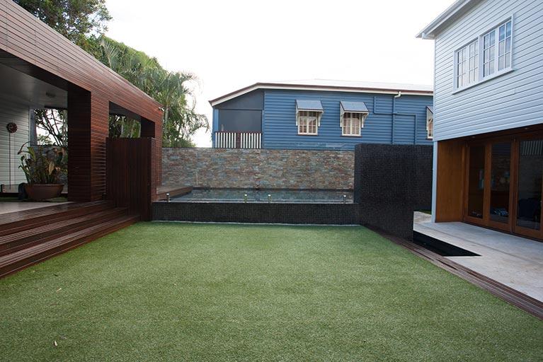 backyard grass with new pool virginia