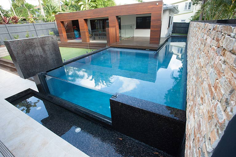 modern pool design for house virginia