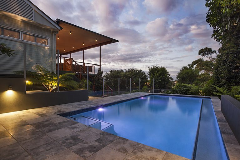 pool renovation on the side of house moorooka