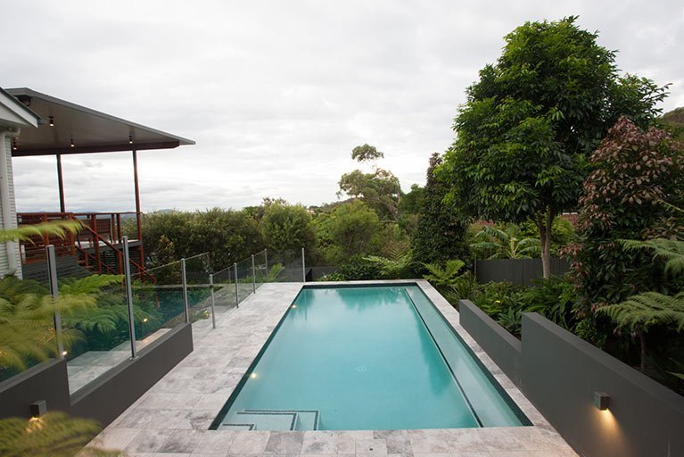 new pool overlooking trees moorooka