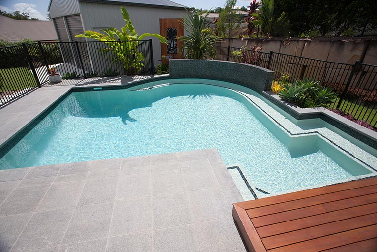 tiled pool and garden cashmere