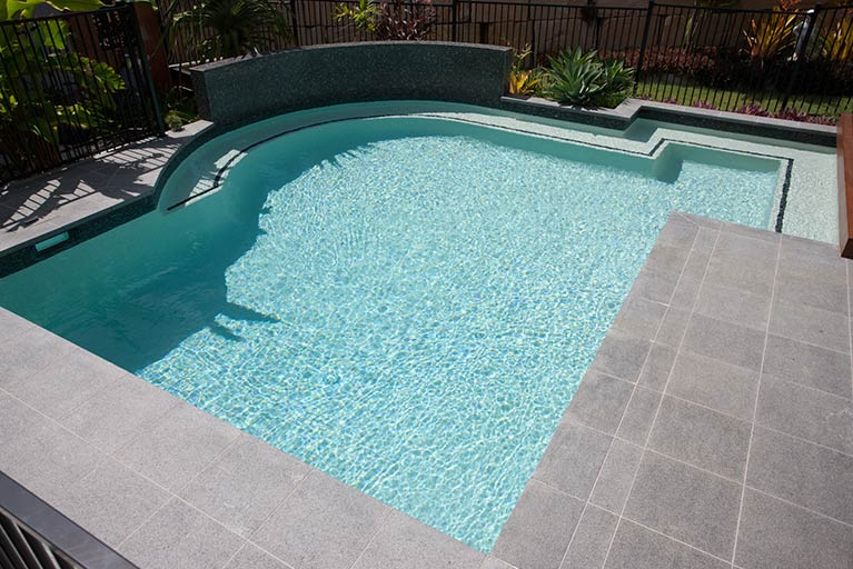 backyard pool with curved edge cashmere