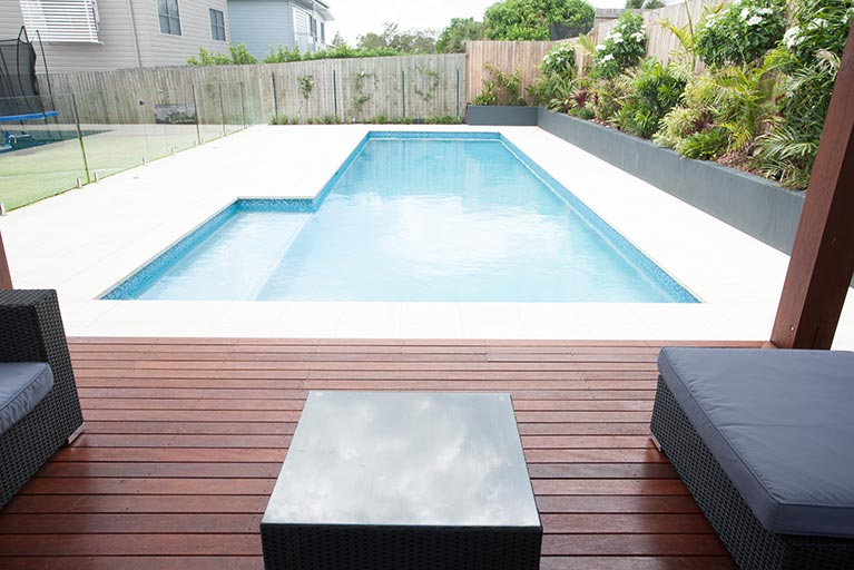 wooden deck by the pool norman park