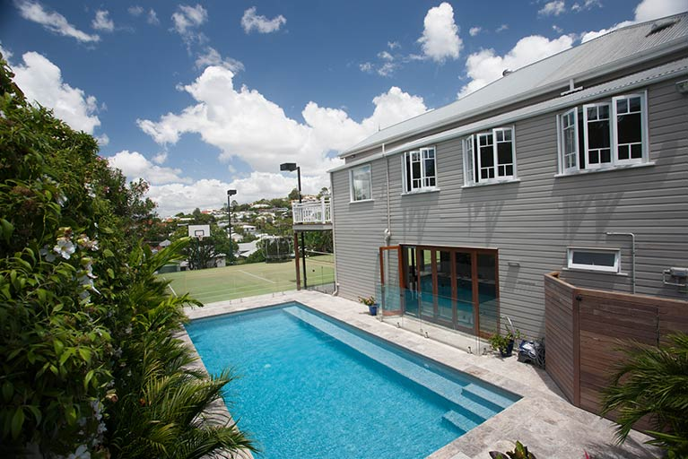 pool renvoation for queenslander clayfield