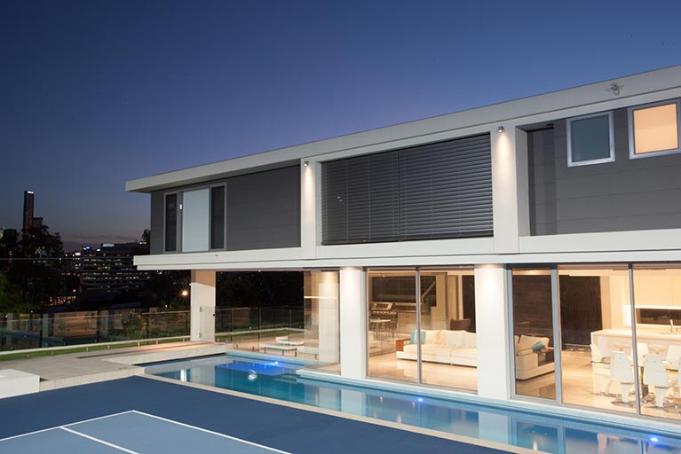 modern house with lap pool bowen hills