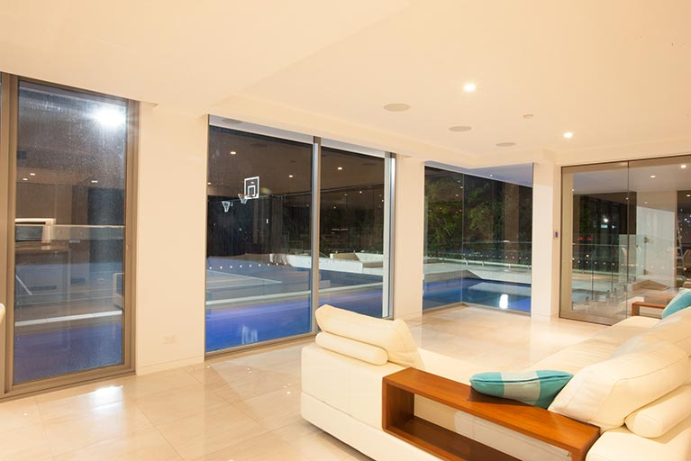 inside of house looking out to pool bowen hills