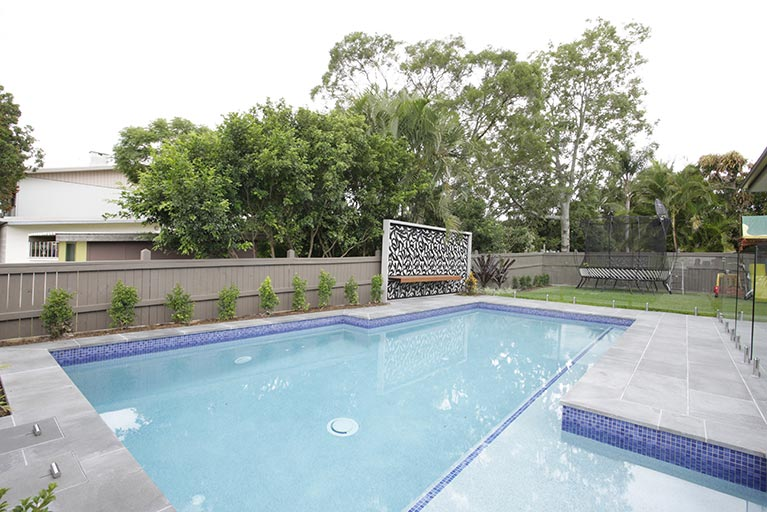 before pool renovation corinda