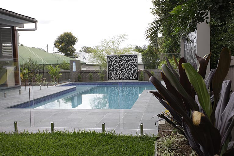 new pool with glass fencing corinda
