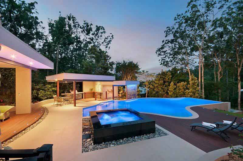 Resort pool in Brisbane by Norfolk Pools