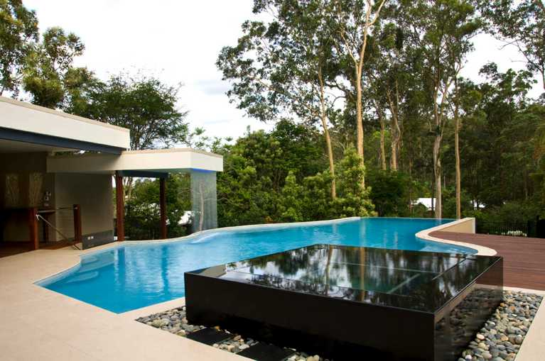 One of our custom designer pools in Brisbane