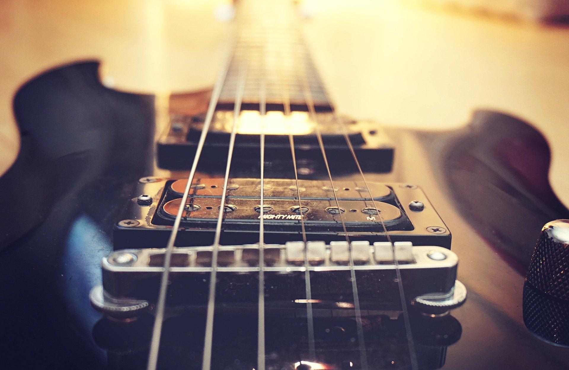 Guitar bridge and pickups