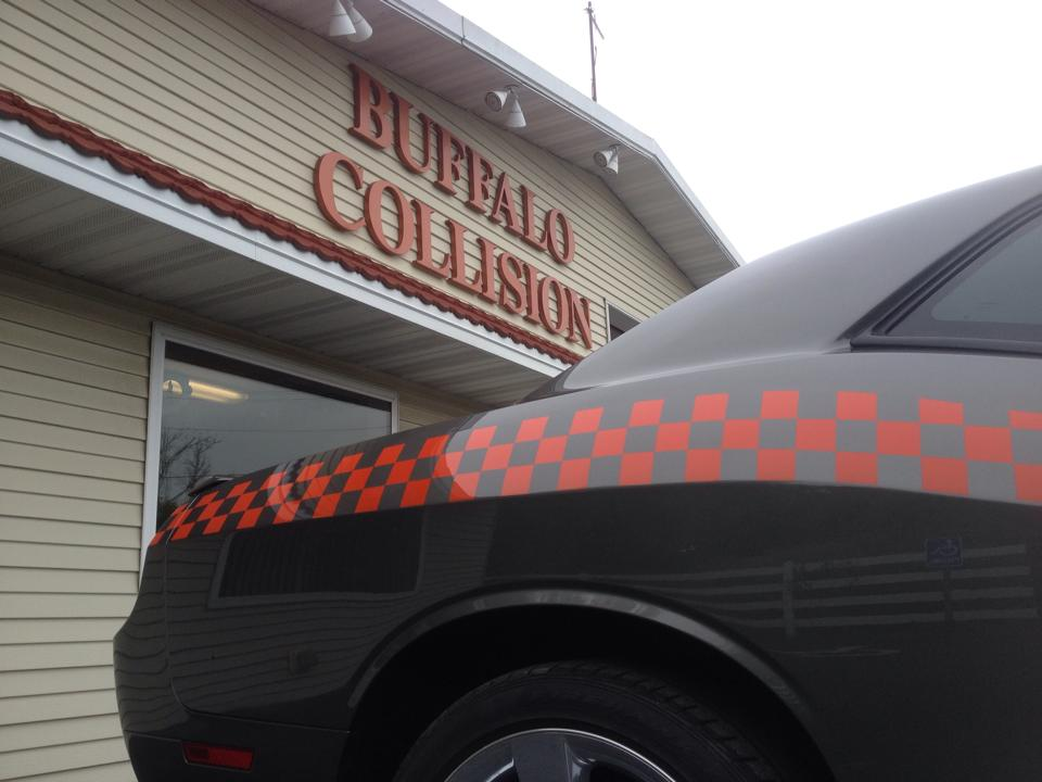 Car outside the shop in Buffalo