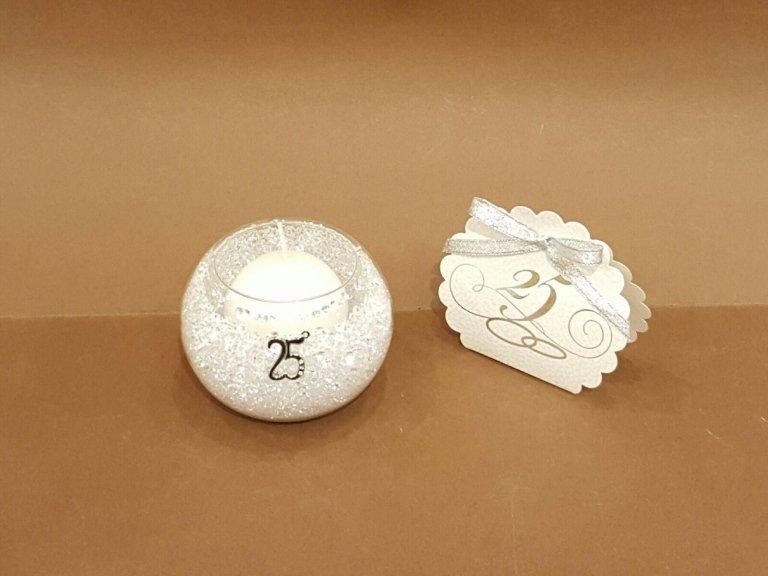 P.candele graniglia nozze d'argento