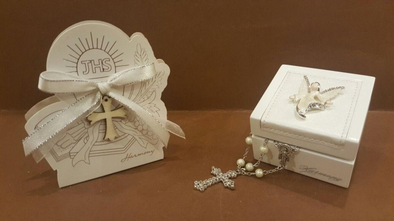 Coroncina con scatola legno