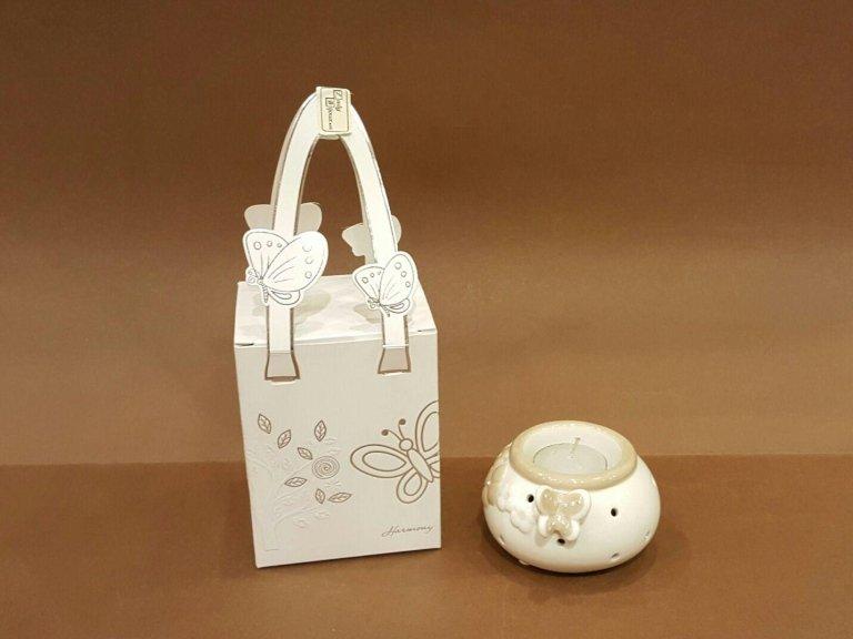 P.candele ceramica con farfalla