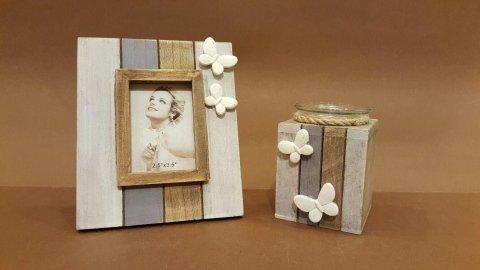 P.foto e P.candele legno farfalle