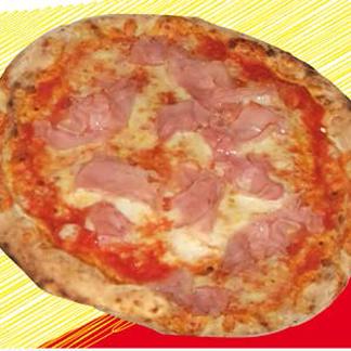 pizza con il prosciutto cotto