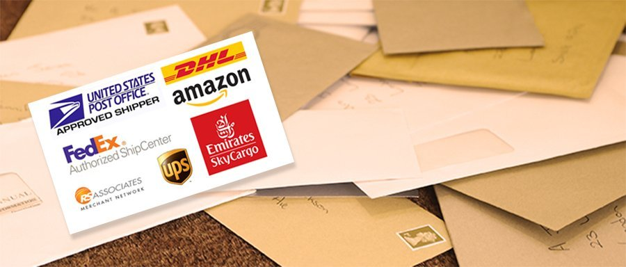 Post Office Disney, UPS, Fed Ex DHL International Shipping