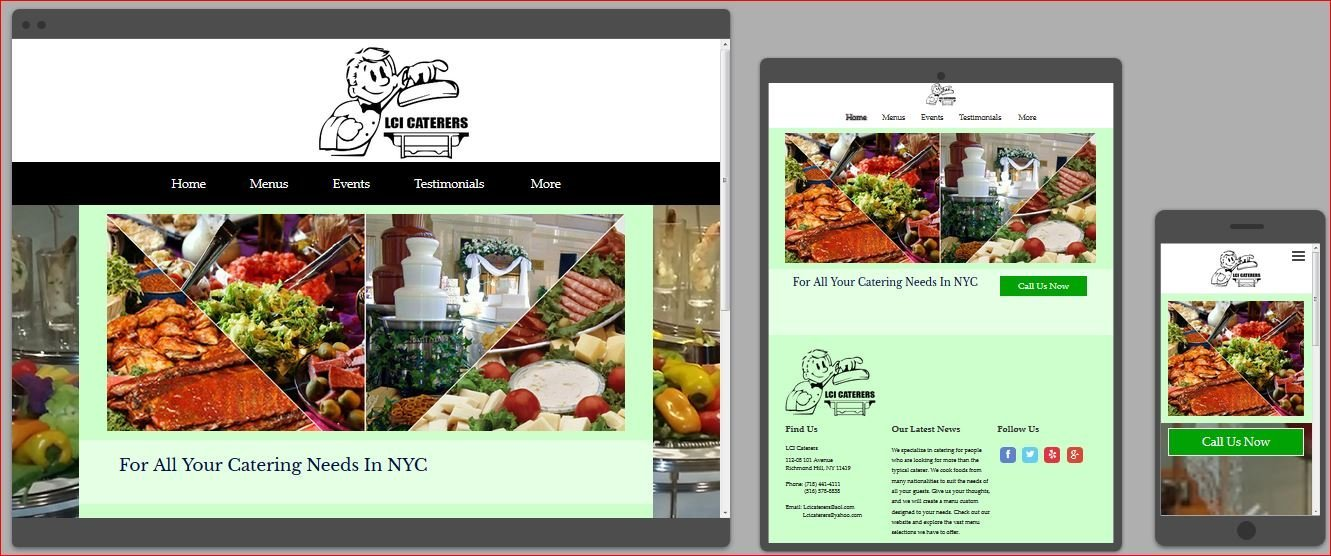 LCI catering sample website