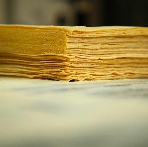 delle sfoglie di pasta