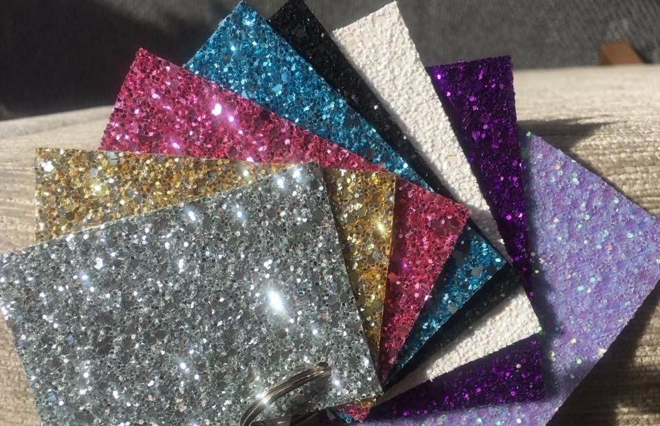 new sparkling glitter coffins