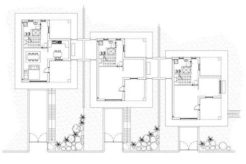 progetto per case a schiera