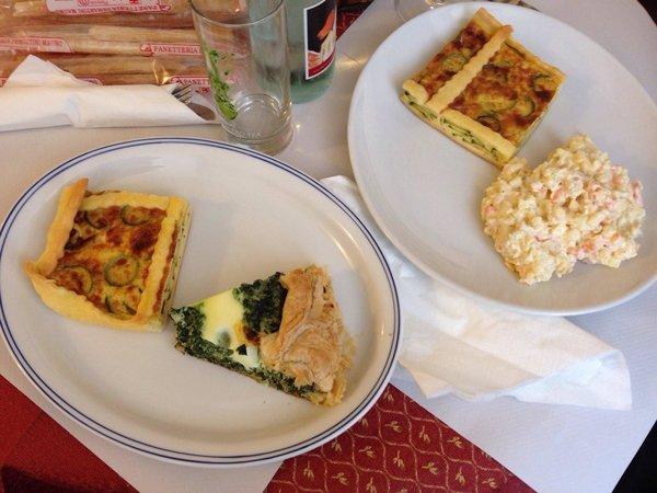 piatti con torte salate artigianali