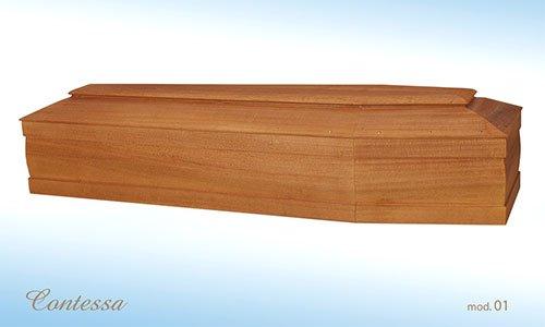 Bara di legno di profilo