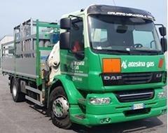 Tanklastwagen für den Transport technischer Gase