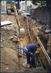 Verlegung von Rohrleitungsnetzen