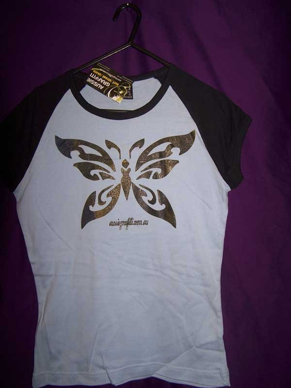 gold butterfly shirt screen printing