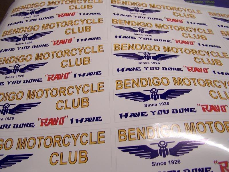 bendigo motorcycle club stickers
