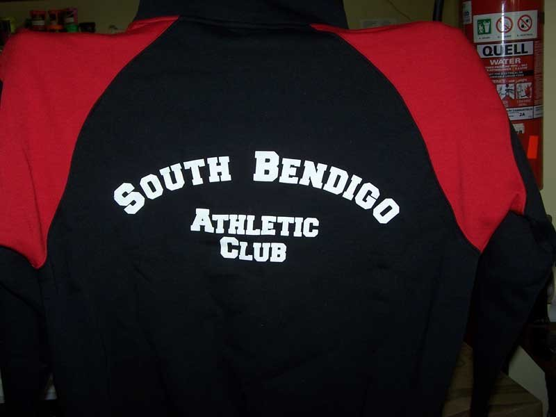 south bendigo athletic club shirt screen printing