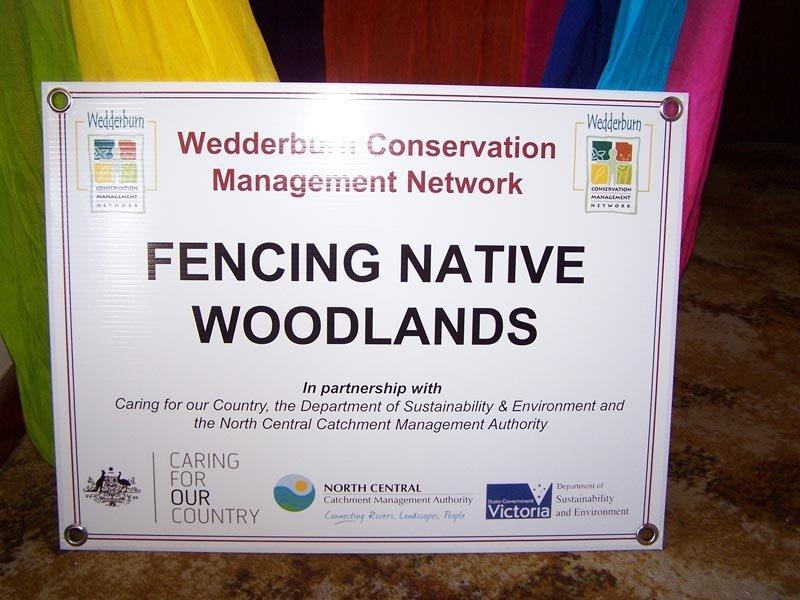 fencing native woodlands signage
