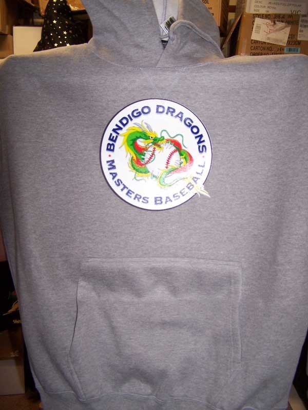 bendigo dragons sweat shirt screen printing