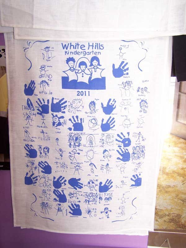 white hills kindergarten shirt screen printing
