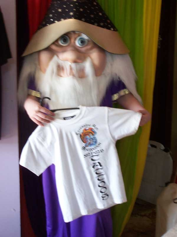 wizard holding shirt screen printing
