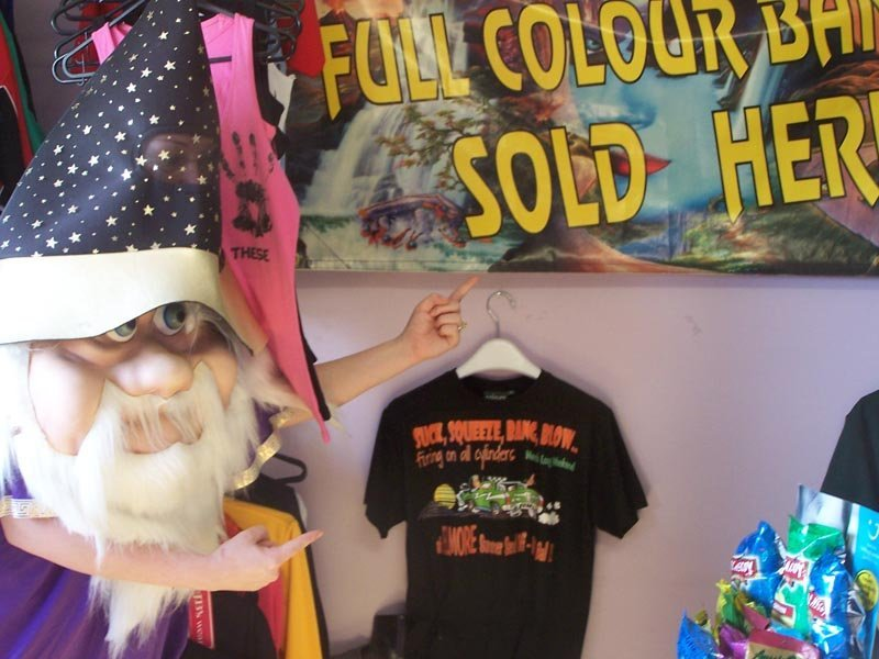 wizard with full banner and shirt