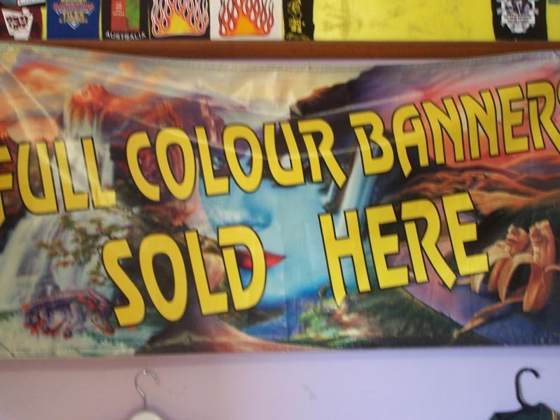 full colour banner sold here sign
