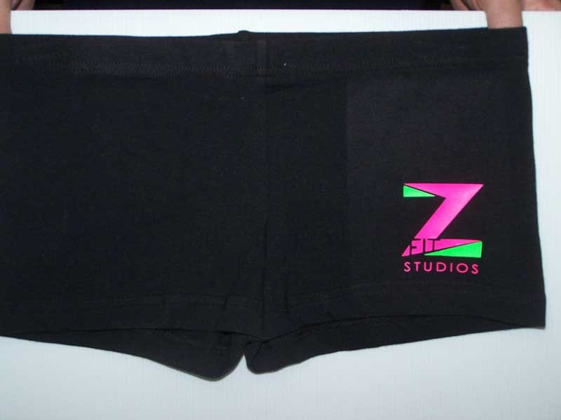 z studios shorts screen printing