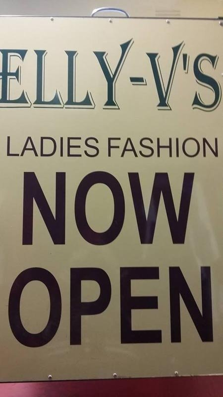 elly-v's ladies fashion sign