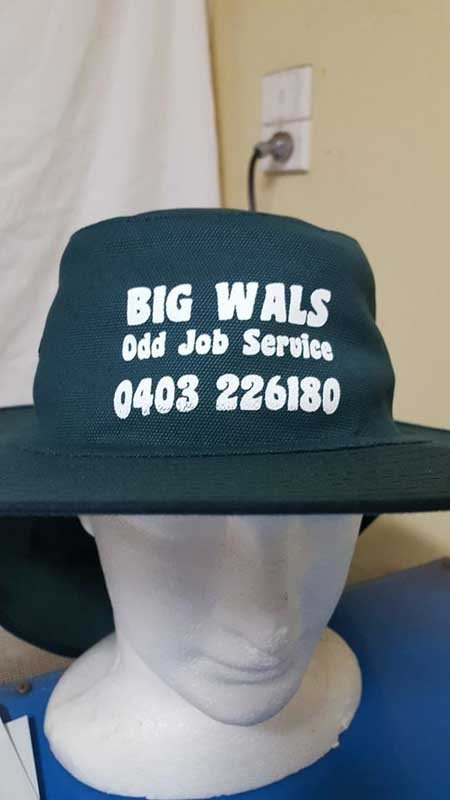 big wals odd job service hat screen printing