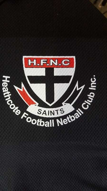 hfnc heathcote football netball club logo screen printing