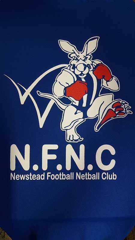ngnc newstead football netball club screen printing