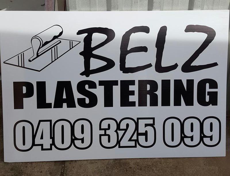 belz plastering sign