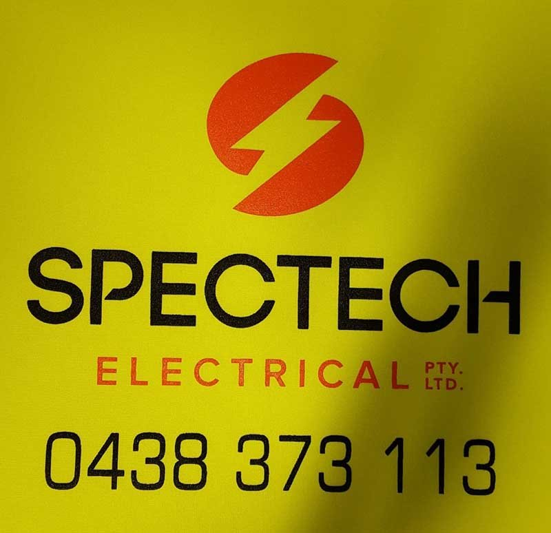 spectech electrical logo screen printing
