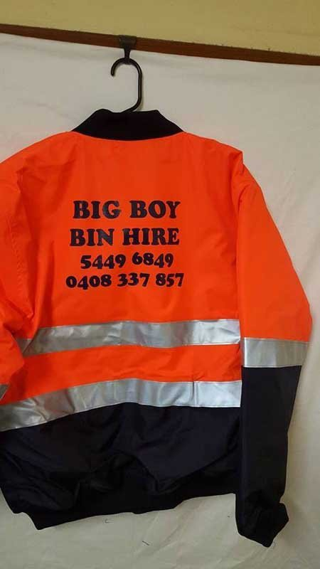 big boy bin hire screen printing